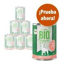zooplus Bio sin cereales comida ecológica para perros - Pack de prueba - 6 x 800 g: pato, salmón y ganso