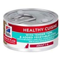 Hill's Adult Healthy Cuisine estofado con atún y verduras para gatos - 12 x 79 g