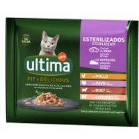 Ultima Cat Sterilized 48 x 85 g comida húmeda para gatos - Selección de carnes