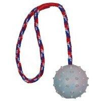 Trixie pelota con cuerda para perros - 3 unidades