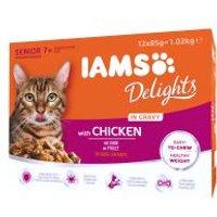 IAMS Delights Senior con pollo en salsa - 24 x 85 g - Pack Ahorro