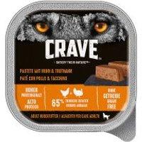 Crave Adult paté para perros 300 g - 10 x 300 g Pavo y pollo - Pack Ahorro