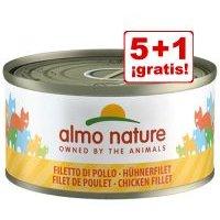 Almo Nature 6 x 70 g: 5 + 1 latas ¡gratis! - Atún y maíz