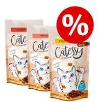 Catessy snacks crujientes 3 x 65 g - Pack Ahorro - Vacuno y malta
