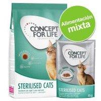 Pack nutrición mixta: pienso 400 g + sobres Concept for Life 12 x 85 g - Light
