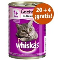Whiskas 1+ años 24 x 400 g latas en oferta: 20 + 4 ¡gratis! - Ave en salsa
