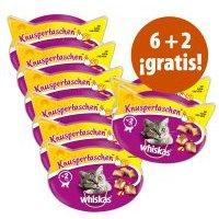 Whiskas Snacks para gatos en oferta: 6 + 2 ¡gratis! - 8 x 60 g Anti-Hairball
