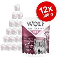 Wolf of Wilderness Soft 12 x 300 g - Pack Ahorro - High Valley, pollo con vacuno