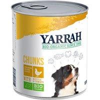 Sparpaket Yarrah Bio Nassfutter Dose 12 x 820 g - Bio-Huhn & Bio-Rind mit Bio-Brennnesseln & Bio-Tomate in Soße