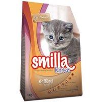 Smilla Kitten Starter-Paket - 1 kg Trockenfutter + 6 x 200 g Nassfutter mit Kalb + 100 g Kittenpaste