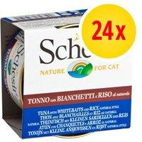 Pack Ahorro: Schesir Natural con arroz 24 x 85 g - Pollo con arroz