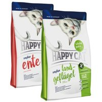 Happy Cat Sensitive Mix - 2 x 4 kg: Land-Geflügel & Ente