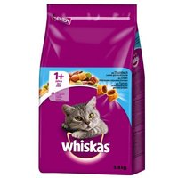 2 x 3,8 kg Whiskas gemischter Doppelpack - Lamm & Huhn