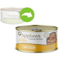 Sparpaket Applaws Kitten 24 x 70 g - Mix Huhn, Thunfisch, Sardine