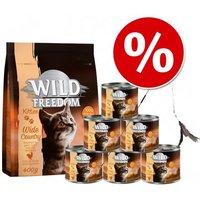 Wild Freedom Kitten Starter-Paket + Katzenangel - 400 g Trockenfutter + 6 x 200 g Nassfutter