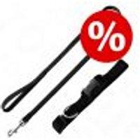 Set collare e guinzaglio Hunter Ecco Sport nero Collare XS + guinzaglio 2 m x 1,5 cm