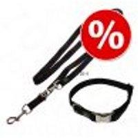 Set collare e guinzaglio Hunter Vario Basic Alu Strong Collare L + guinzaglio 2 m x 2 cm