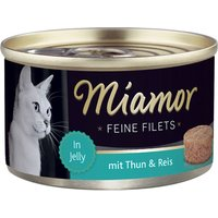 Miamor Fine Fillets Saver Pack 24 x 100g - White Tuna & Shrimps in Jelly