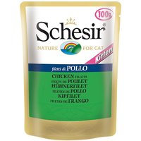 Schesir Kitten Pouch 6 x 100g - Chicken Fillet