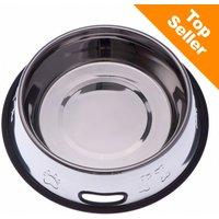 Gamelle en inox pour chien - capacité : 0,70 L - 21 cm de diamètre