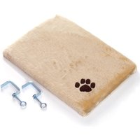 Plush Window Sill Mat - Dark Beige - 50 x 35 x 5 cm (L x W x H)