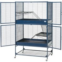 Savic Rat & Ferret Cage Royal Suite 95 - Dark Blue: 95 x 63 x 159 cm (L x W x H)