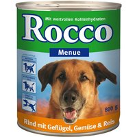 Rocco Menu 6 x 800g - Beef, Vegetables & Rice