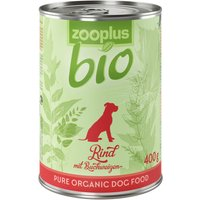 zooplus Bio Organic Beef with Buckwheat - 6 x 400g