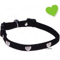 zoolove Collier Diamond Hearts pour chat - noir