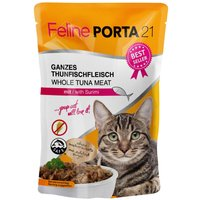 Feline Porta 21 Pouches Saver Pack 12 x 100g - Tuna with Shrimps