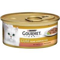 Gourmet Gold Les Double Délices 12 x 85 g - canard, dinde