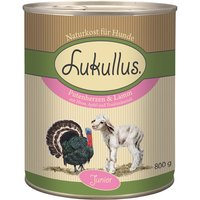 Lukullus Junior, cœurs de dinde & agneau - 6 x 400 g
