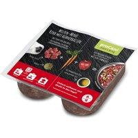 proCani Menu BARF bœuf, cous de poulet, carottes, pommes - 40 x 200 g (2 x 200 g par barquette)