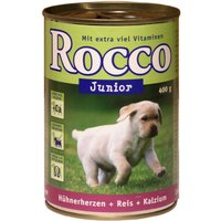 Rocco Junior Saver Pack 12 x 400g - Poultry, Game, Rice & Calcium