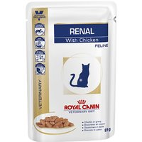 Royal Canin Veterinary Diet Cat - Renal with Chicken - Saver Pack: 48 x 85g