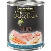 zooplus Selection Adult Sensitive Chicken & Rice - 6 x 800g