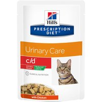 Hills Prescription Diet Feline c/d Urinary Stress Reduced Calorie - 12 x 85g pouches