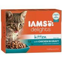 IAMS Delights Kitten Chicken in Gravy - Saver Pack: Chicken in Gravy (24 x 85g)