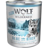 Little Wolf of Wilderness 6 x 800g - Blue River Junior - Chicken & Salmon