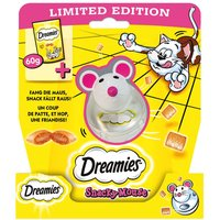 60g Dreamies Cat Treats with Cheese + Snacky Mouse Toy - Dreamies with Cheese (60g) + Snacky Mouse Toy