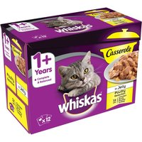 Whiskas 1+ Casserole Poultry Selection in Jelly - Saver Pack: 48 x 85g