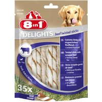 8in1 Delights Twisted Sticks - Beef - Saver Pack: 2 x 190g