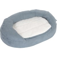 Oval Memory Foam Dog Bed - Grey - 118 x 74 x 24 cm (L x W x H)