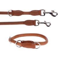 Hunter Round & Soft Lead & Collar Set - Cognac - Set 2