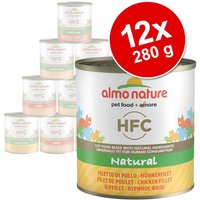 Almo Nature HFC 12 x 280 g - Pack Ahorro - Filete de pollo al natural