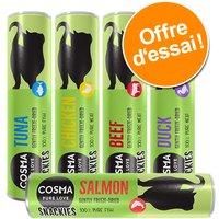 Offre découverte Cosma Snackies Friandises lyophilisées pour chat - 4 saveurs format découverte (62 g)