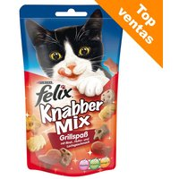 Felix Party Mix snacks para gatos - Mixed Grill (3 x 60 g) - Pack Ahorro