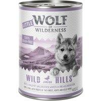 Little Wolf of Wilderness 6 x 400g - Blue River Junior - Chicken & Salmon