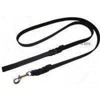 Correa de cuero negro con gancho trenzado Heim para perros - 200 x 1,8 cm (L x An)