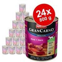 Pack Ahorro: Animonda GranCarno Original Adult 24 x 800 g - Vacuno y ciervo con manzana